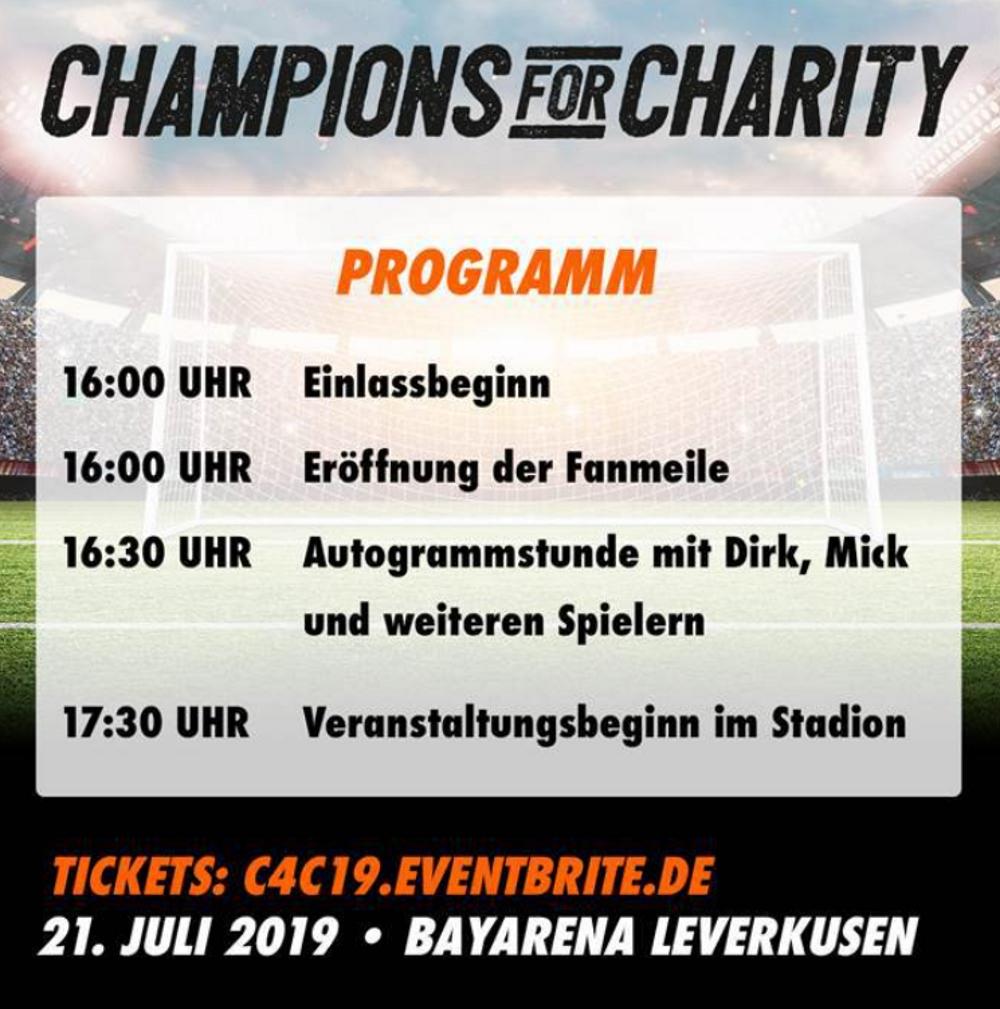 Champions for Charity - Zeitplan